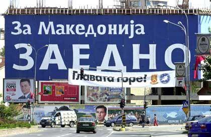 Wahlkampf im Vielvölkerstaat: Regierungswahl in Mazedonien im Herbst 2002