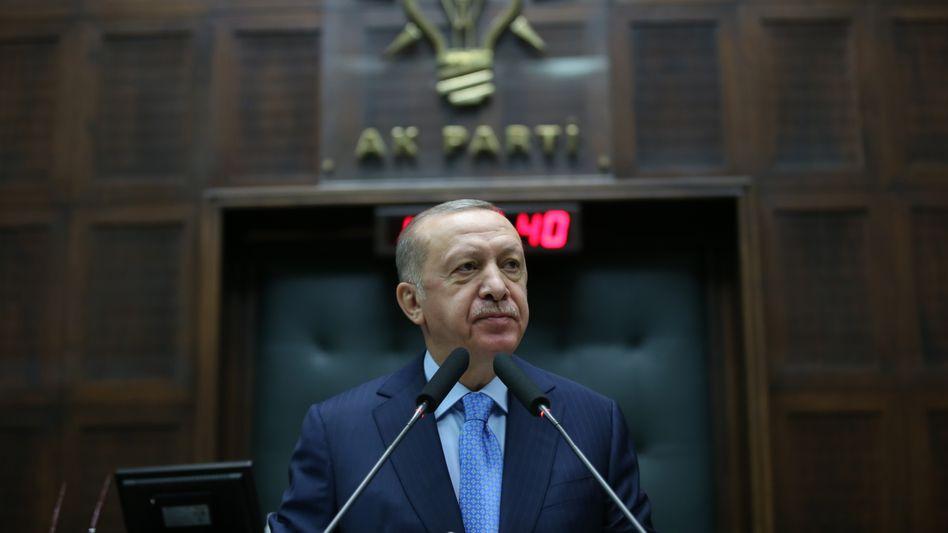 Im neuen Licht: Der türkische Staatschef Recep Tayyip Erdoğan am 11.11. in Ankara