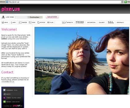 Ausgelagerte Software: Pixer.us macht Fotos hübscher