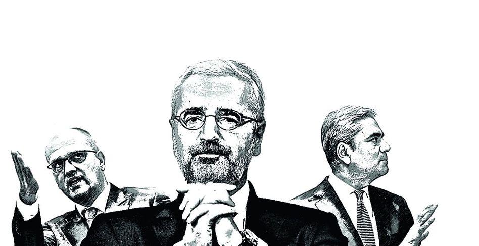 Links, rechts, geradeaus Privatkundenchef Rainer Neske (l.), Co-CEO Anshu Jain (r.), Aufsichtsratschef Paul Achleitner