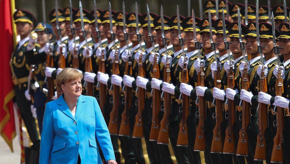 Merkel in China (im Mai 2018 n Peking): Die Zeichen gut für eine klarere, kantigere China-Politik der Europäischen Union stehen gut