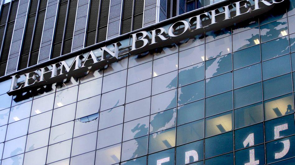 Lebenszeichen: Ehemalige Zentrale von Lehman Brothers am Tag der Pleite 2008