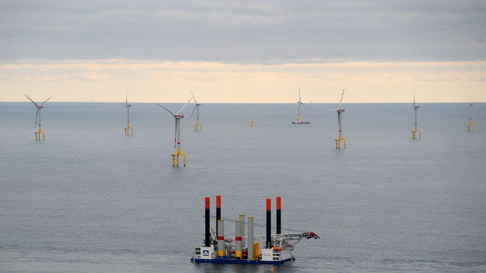 Offshore-Windanlagen in der Nordsee: BASF setzt auf dem Weg zur Klimaneutralität auf Windkraft auf hoher See