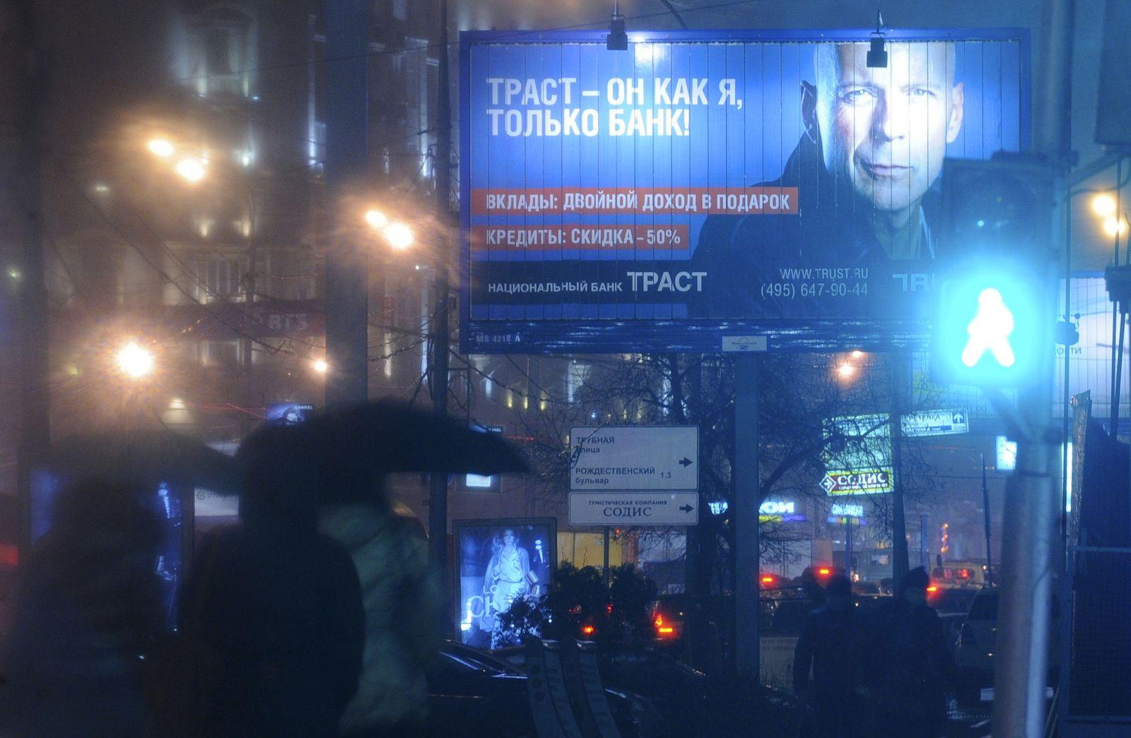 Russland/ Trust Bank/ Werbung/ Willis