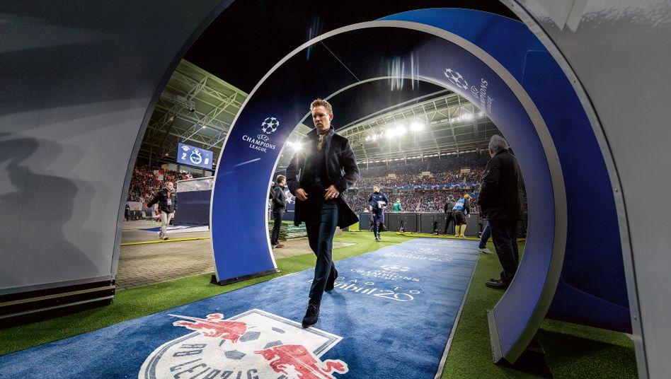 Großer Auftritt: Im Champions-League-Achtelfinale gegen Tottenham Hotspur Mitte März fuhr Julian Nagelsmann den bisher größten Sieg für RB Leipzig ein – und für sich selbst