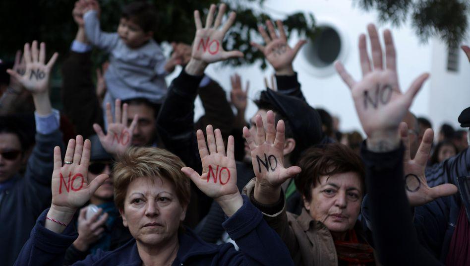 Proteste auf Zypern: Die Pläne einer Zwangsabgabe haben auf der Insel einen Sturm der Entrüstung hervorgerufen