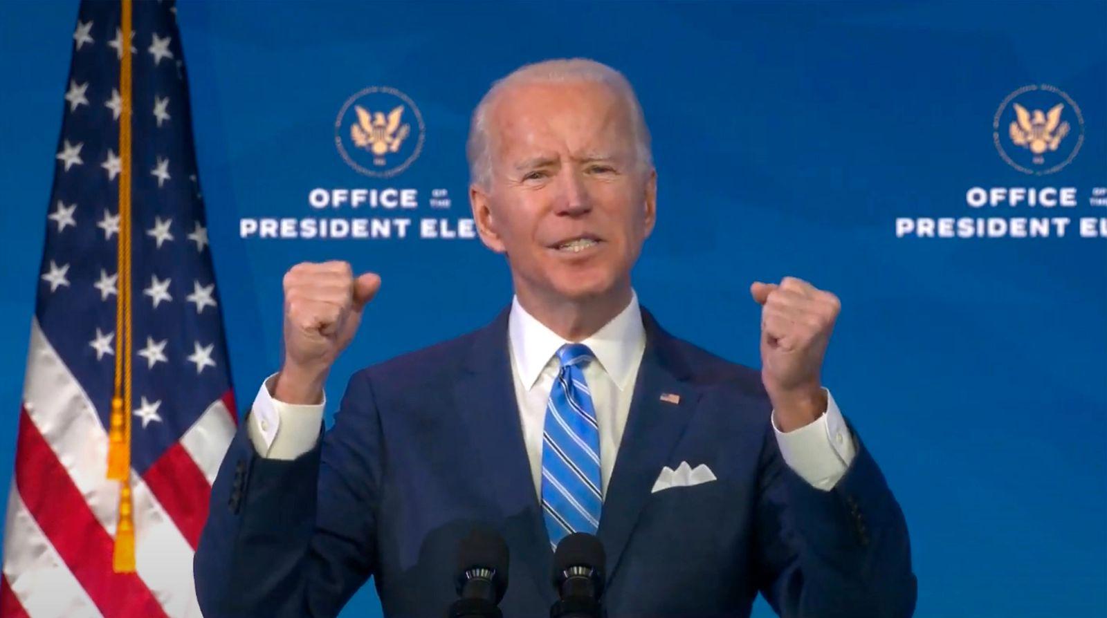 January 14, 2021, Wilmington, Delaware, USA: United States President-elect Joe Biden makes remarks on the Public Health