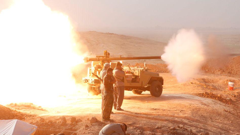 Kampf gegen den IS: Auch die kurdischen Peschmerga sind an den Kämpfen im Irak beteiligt - die USA unterstützen aus der Luft