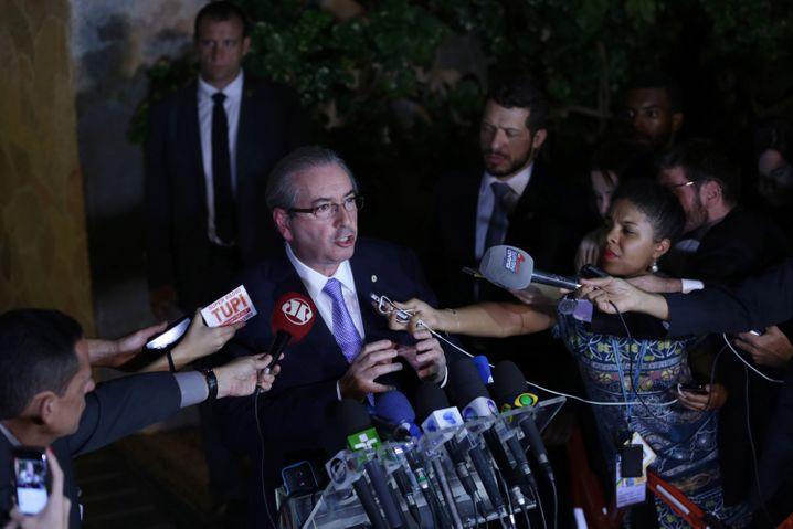 Alliierten verloren: Parlamentspräsident Eduardo Cunha stieß das Abwahlverfahren an und musste zuerst selbst gehen