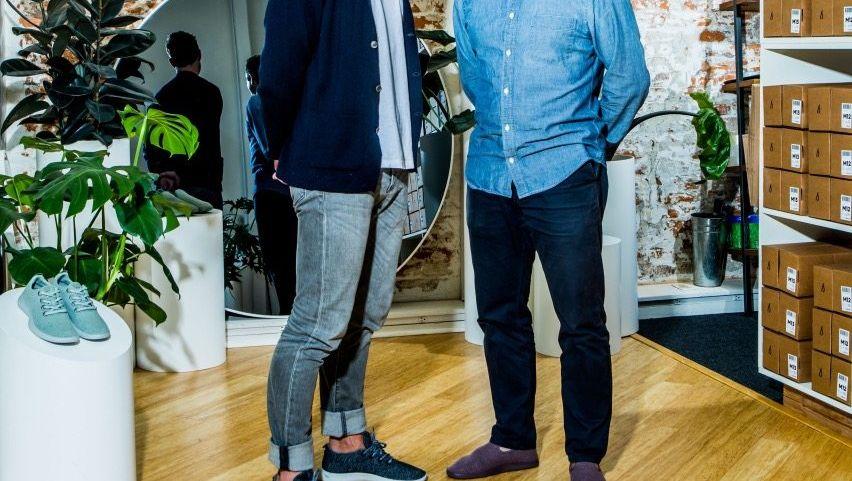 SUGAR-BOYS Allbirds-Gründer Tim Brown (links) und Joey Zwillinger. Die Sohlen ihrer Sneaker sind aus Zuckerrohr.