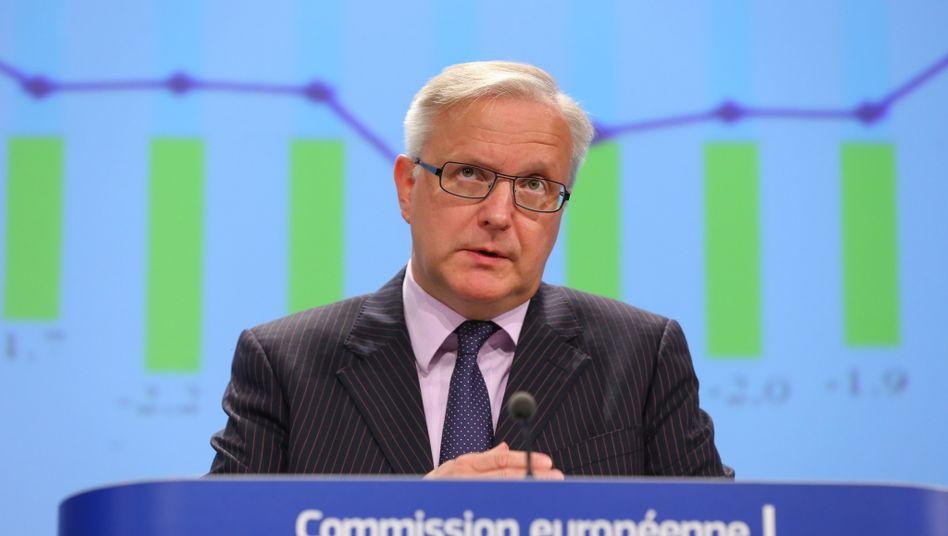 """EU-Währungskommissar Olli Rehn: """"In Spanien ist die Arbeitslosigkeit bei 26 Prozent angekommen, was völlig inakzeptabel ist"""""""