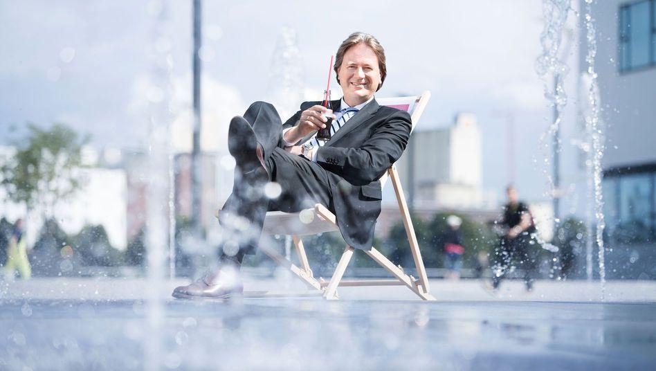 """Bloß kein Stress: Frank Behrendt bezeichnet sich als """"tiefenentspannten Vorstand"""""""