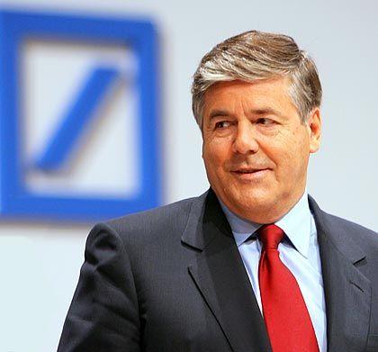 Blaues Logo, schwarze Zahlen: Die deutsche Bank