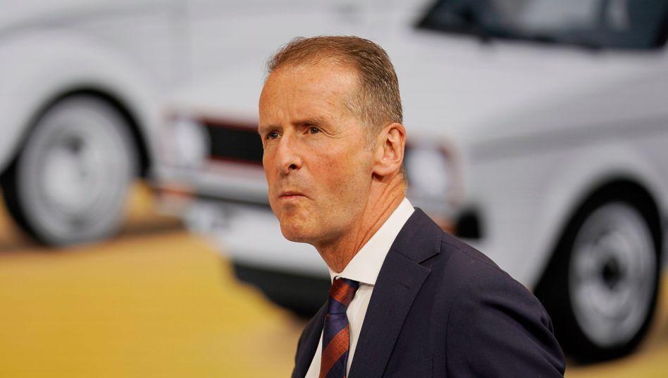 Herbert Diess: Der VW-Chef wollte Einstellung des Dieselverfahrens nur bei Gegenleistung zustimmen - und scheiterte.