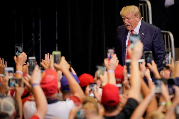 Donald Trump auf Wahlkampfveranstaltung