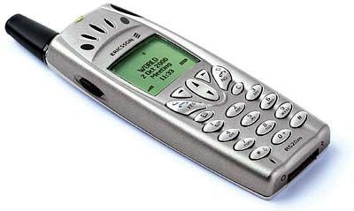 Vergangenheit: Ericsson-Handy mit Schwarz-Weiß-Display