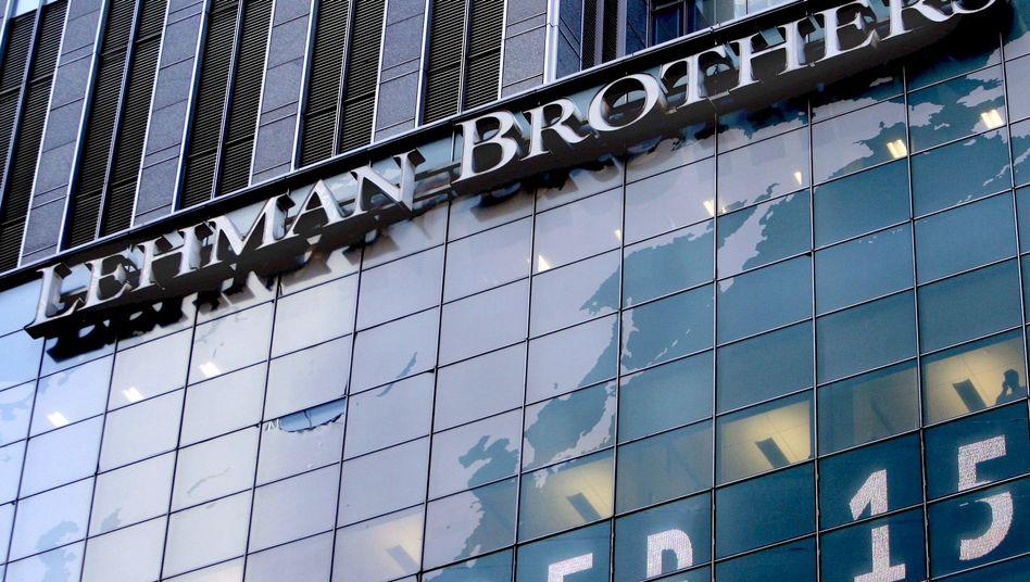 Lehman Brothers: Die Pleite der US-Investmentbank Lehman Brothers am 15. September 2008 war ein Schlüsselmoment der Finanzkrise