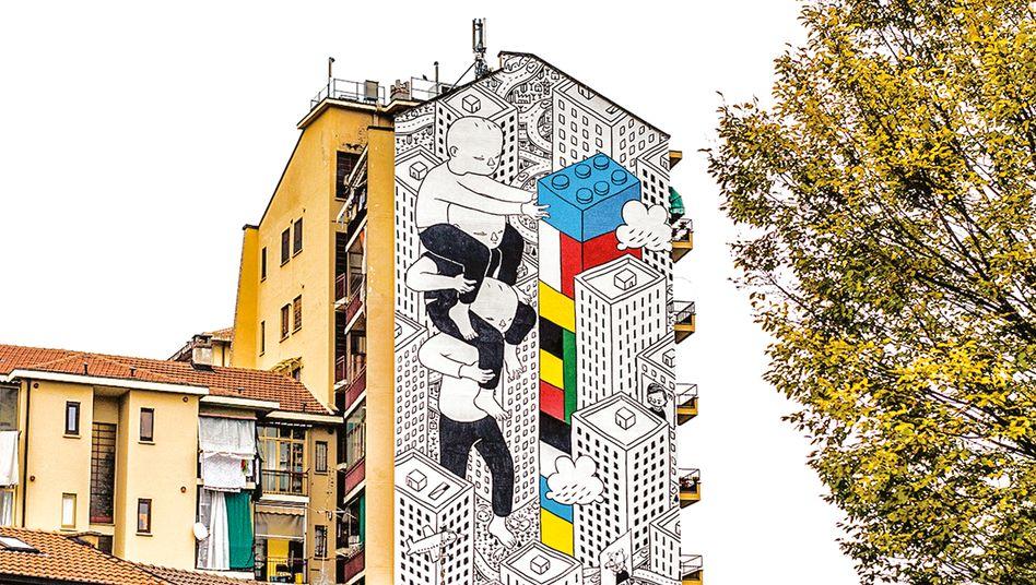 Straßenkunst von Millo im Rahmen der B.ART-Arte im Stadtteil Barriera