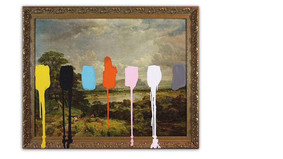 """Die Arbeit """"Thrift Store Landscape With a Color Test"""" des amerikanischen Künstlers Chad Wys"""