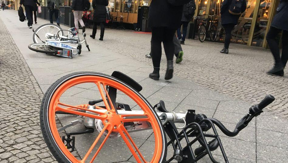 Große Tech-Unternehmen kämpfen mit ihren Bike-Sharing-Angeboten um deutsche Kunden - und sorgen dort teilweise für Unmut