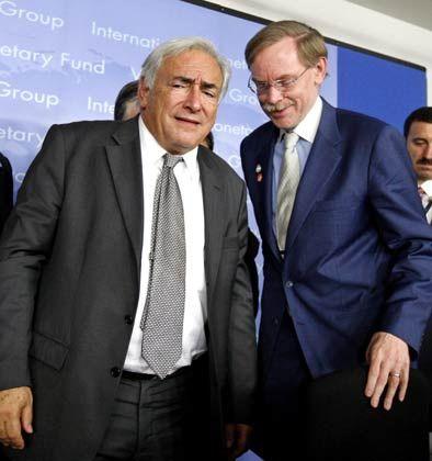IWF-Chef Strauss-Kahn, Weltbankchef Robert Zoellick: Rückkehr zu 4 Prozent globalem Wachstum?