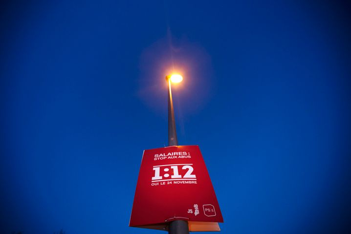 Strikte Obergrenze: Plakat zu einer (gescheiterten) Schweizer Volksabstimmung von 2013