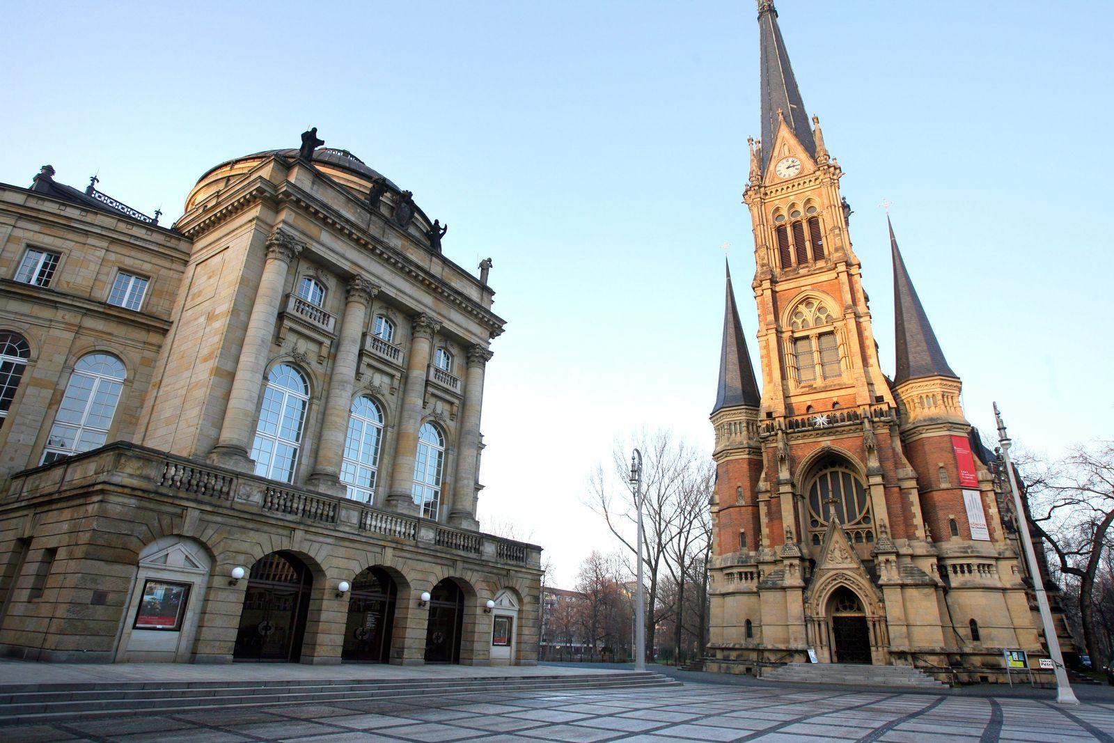 Chemnitz / Oper / Kirche