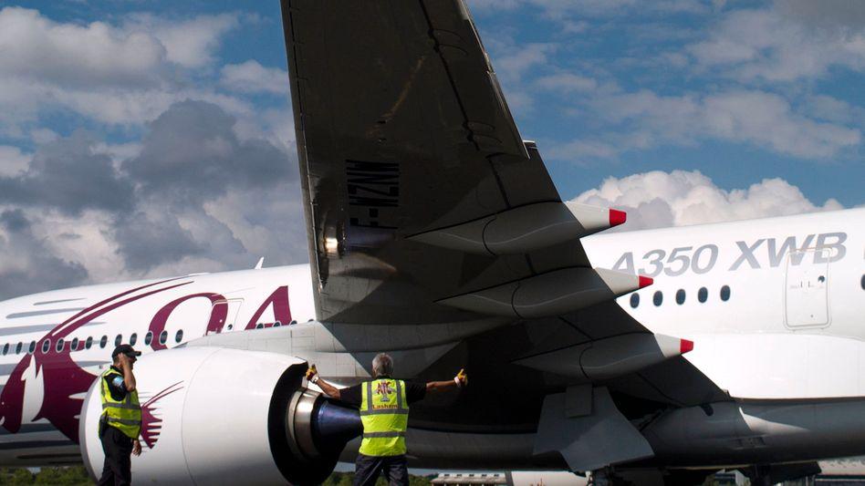 Rückwärts einparken: Luftfahrtmesse im englischen Farnborough