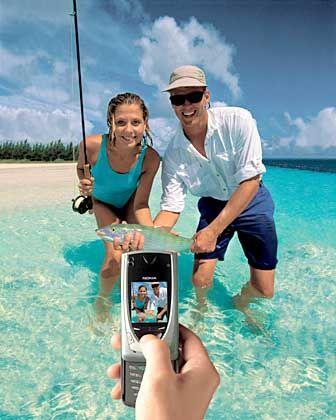 Realitätsfern: Mobile Urlaubsbilder wie dieses sind ein Wunschtraum der Handyhersteller
