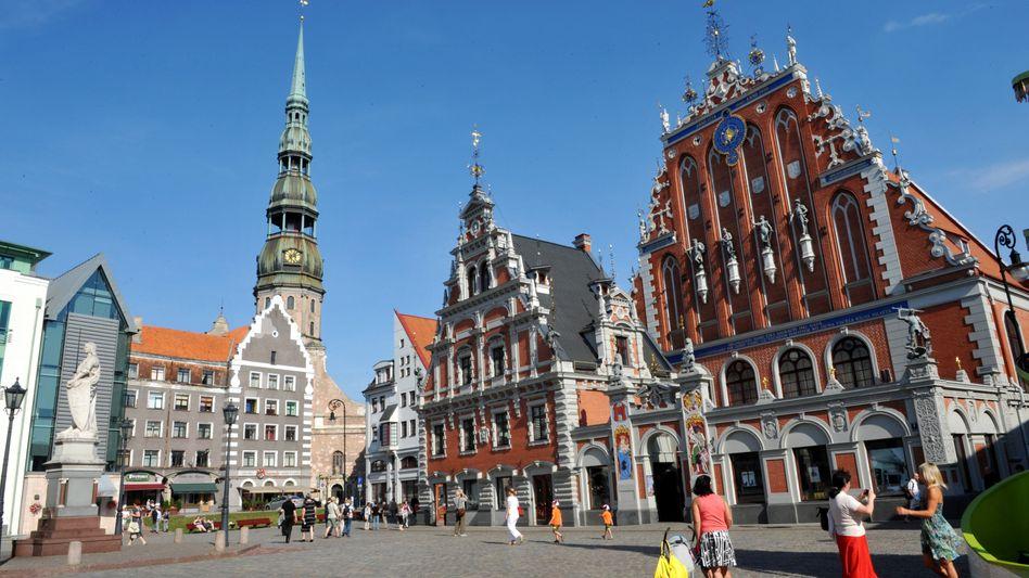 Hauptstadt Riga: Die Landeswährung Lats ist ohnehin an den Euro gebunden