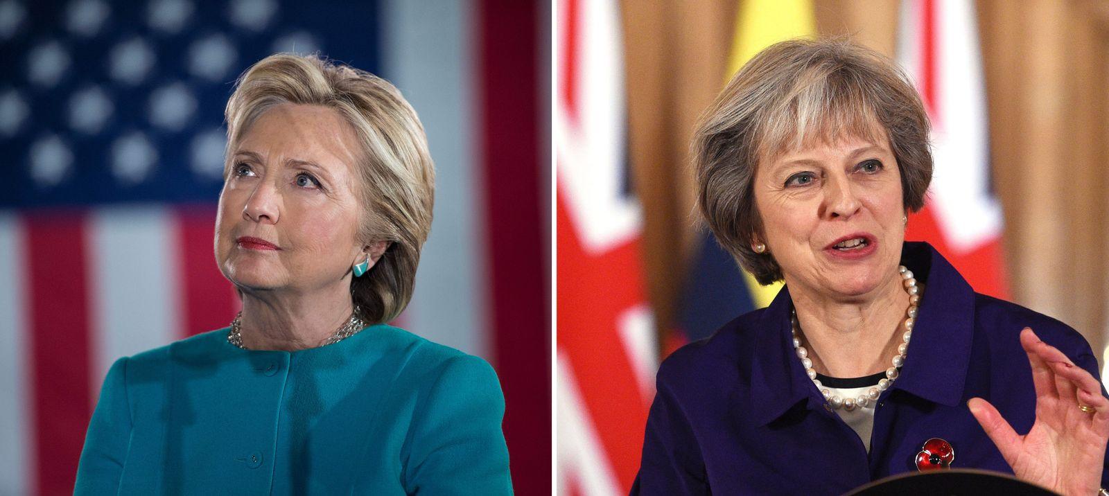KOMBO Hillary Clinton / Theresa May