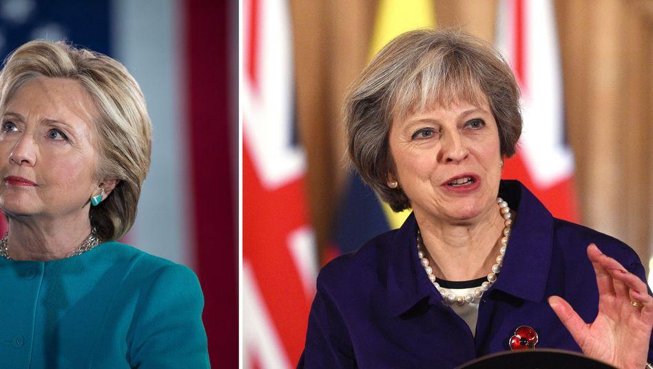 Hillary Clinton, Theresa May: Sie sprechen beide Englisch. Doch gleiche Redewendungen haben nicht selten unterschiedliche Bedeutungen in den USA und Großbritannien