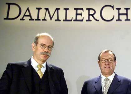 Dieter Zetsche und Jürgen Schrempp: Einen Führungswechsel bei Daimler hat es bereits gegeben
