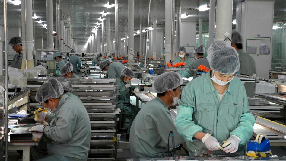 Solar-Produktion bei Suntech: Die EU-Kommission sanktioniert chinesische Billigimporte