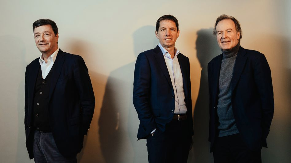 Bio-Trio: Die Biontech-Geldgeber Michael Motschmann (l.), Helmut Jeggle und Haupteigner Thomas Strüngmann (r.)