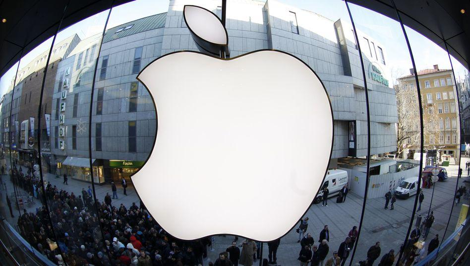 """Apple-Logo: """"Es sieht so aus, als ob dieses ikonische Unternehmen seine Blütezeit hinter sich hat"""", meint Hedgefondsmanager Doug Kass"""