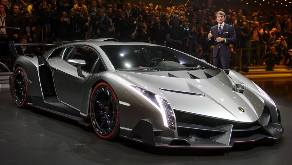 Künftig wieder Jubelbilder: ein Lamborghini Veneno, Mitglied der Volkswagen Group.