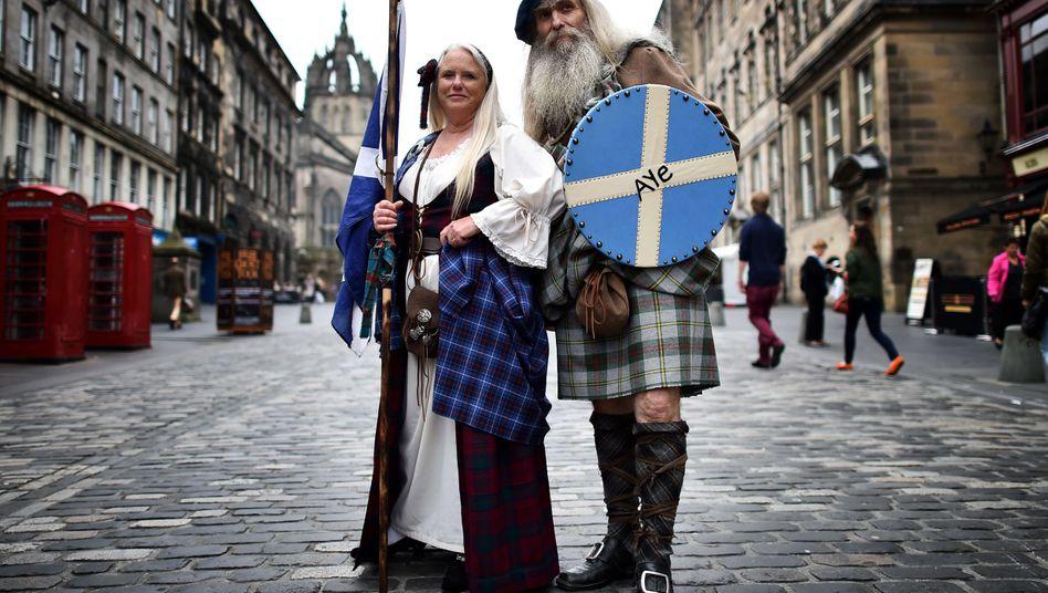 Unabhängigkeits-Befürworter in Edinburgh: Der Markt spricht heute schottisch