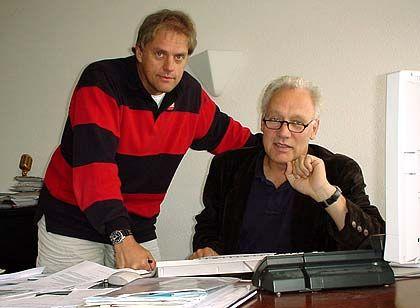 ASC Geschäftsführer: Ulrich Müller (li.) mit Peter Matthes, der in den 70ern noch selbst Rock 'n' Roll sang und so zur Musik- und Bühnentechnik kam