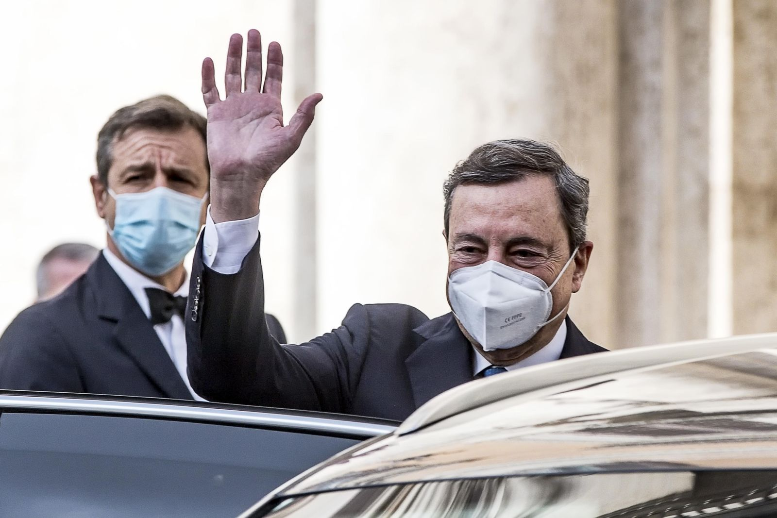 Italy's Mario Draghi accepts mandate to form national unity government, Rome - 03 Feb 2021