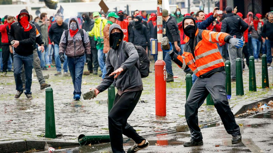 Demonstration von Spargegnern in Brüssel: Der europäische Geist ist beschädigt