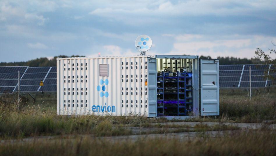 So sollen die Container von Envion aussehen, in welchen Kryptowährungen produziert werden