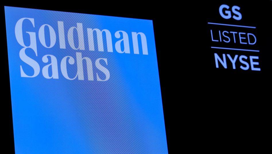 Firmenlogo an der Börse in New York: In Europa steht Goldman Sachs vor großen Veränderungen