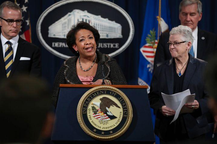 Neue, harte Linie: Noch-US-Justizministerin Loretta Lynch