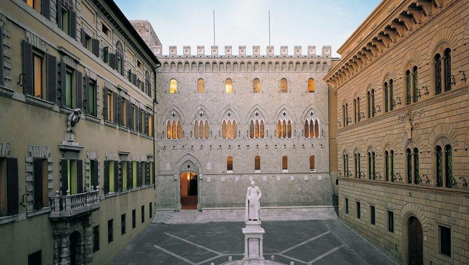 Imposante zentrale der ältesten Bank der Welt: Monte Dei Paschi in Florenz muss neuen Rückschlag verkraften