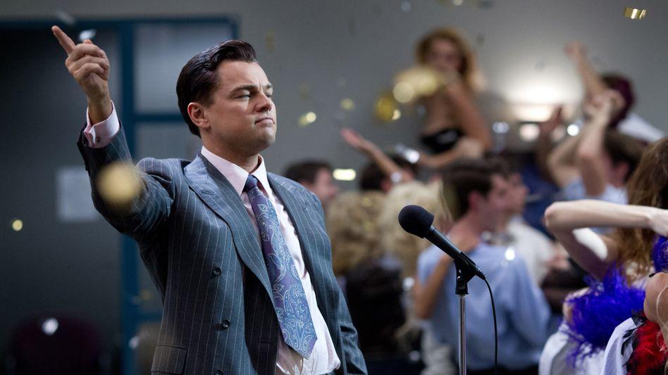 """Hollywood-Star Leonardo DiCaprio im Film """"Wolf of Wall Street"""": Aktienbetrügereien, wie in dem Streifen gezeigt, verursachen auch in Deutschland Millionenschäden"""