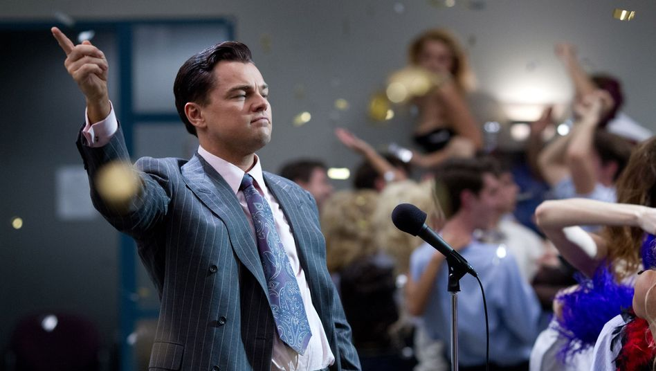 "Hollywood-Star Leonardo DiCaprio im Film ""Wolf of Wall Street"": Aktienbetrügereien, wie in dem Streifen gezeigt, verursachen auch in Deutschland Millionenschäden"