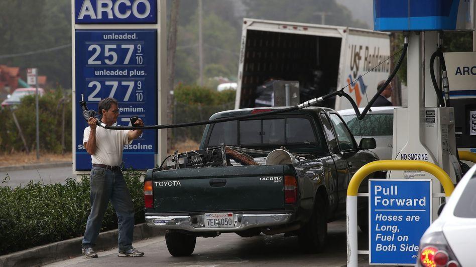 Tankstelle in den USA: Der Angriff auf die Pipeline brachte die Benzinversorgung in einem großen Teil der USA in Gefahr