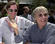 Prottzveranstaltung Formel 1: Thomas Haffa und Formel 1 Oberguru Bernie Ecclestone