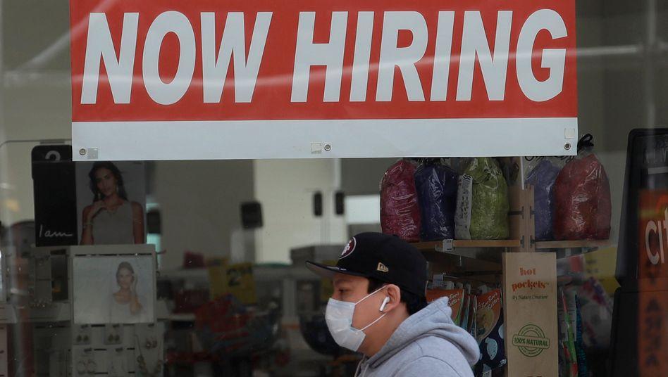 8,1 Millionen offene Stellen: In manchen Bereichen belastet der Arbeitskräftemangel in den USA bereits die Produktion, heißt es